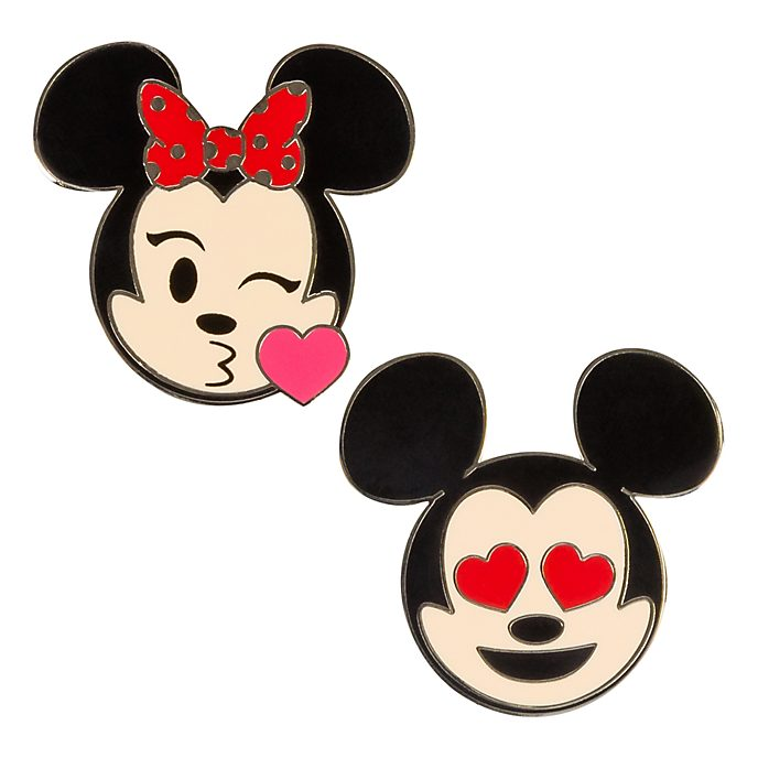 Disneyland Paris Mickey And Minnie Mouse Emoji Pins