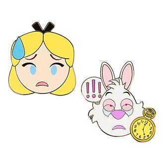 Disneyland Paris Alice In Wonderland Emoji Pins