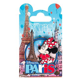 Disneyland Paris Minnie Mouse and Eiffel Tower Souvenir Pin