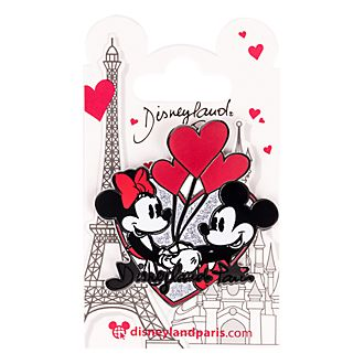 Pin's Mickey et Minnie Disneyland Paris en forme de cœur