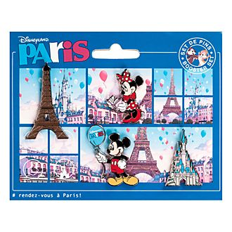 Disneyland Paris Set of 4 Paris Booster Pins