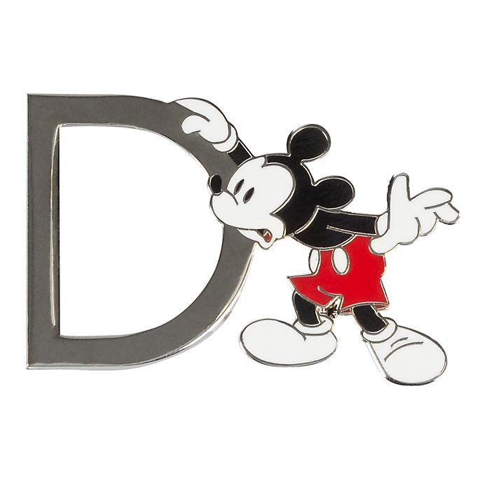 Disneyland Paris Mickey Mouse 'D' Letter Pin