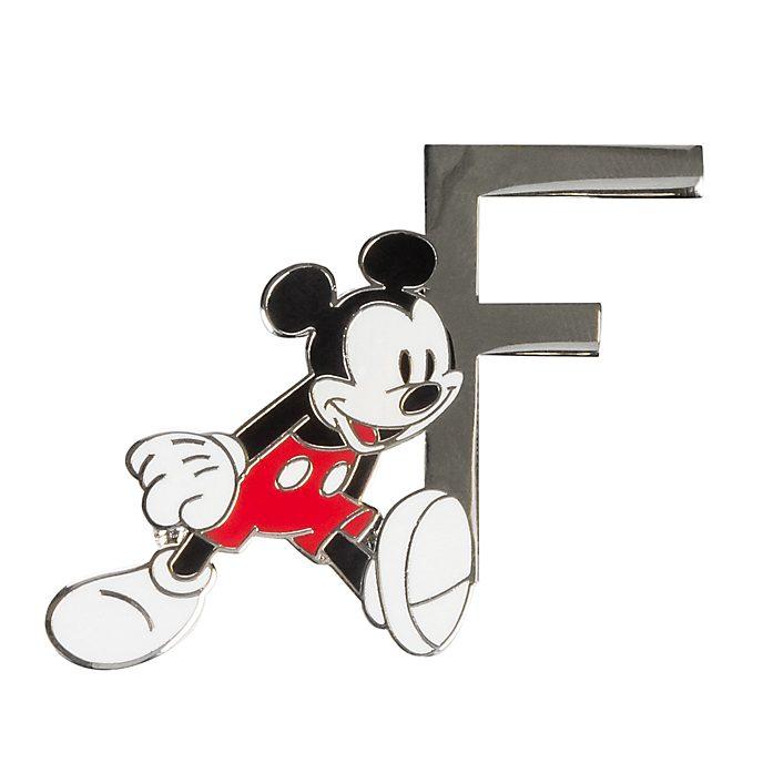 Disneyland Paris Mickey Mouse 'F' Letter Pin