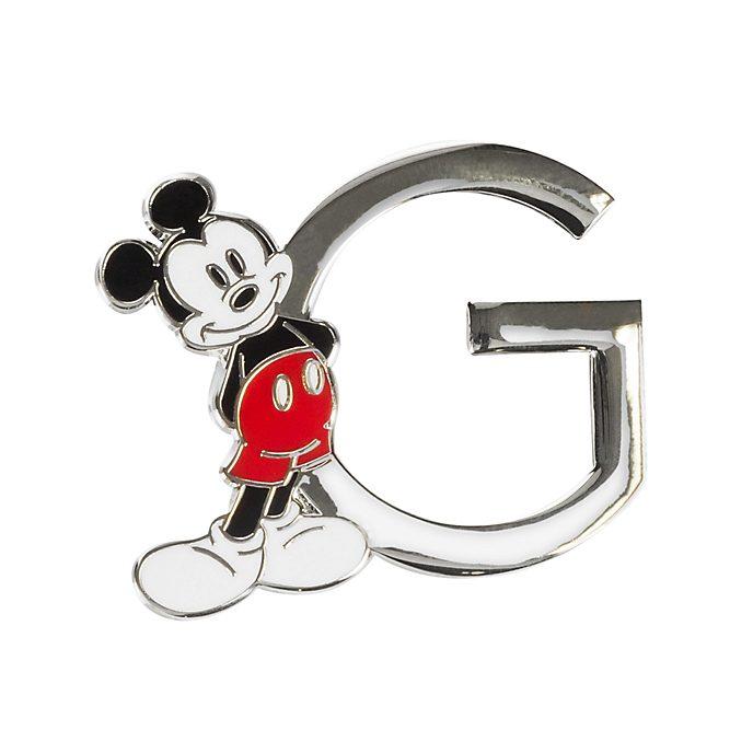 Disneyland Paris Mickey Mouse 'G' Letter Pin