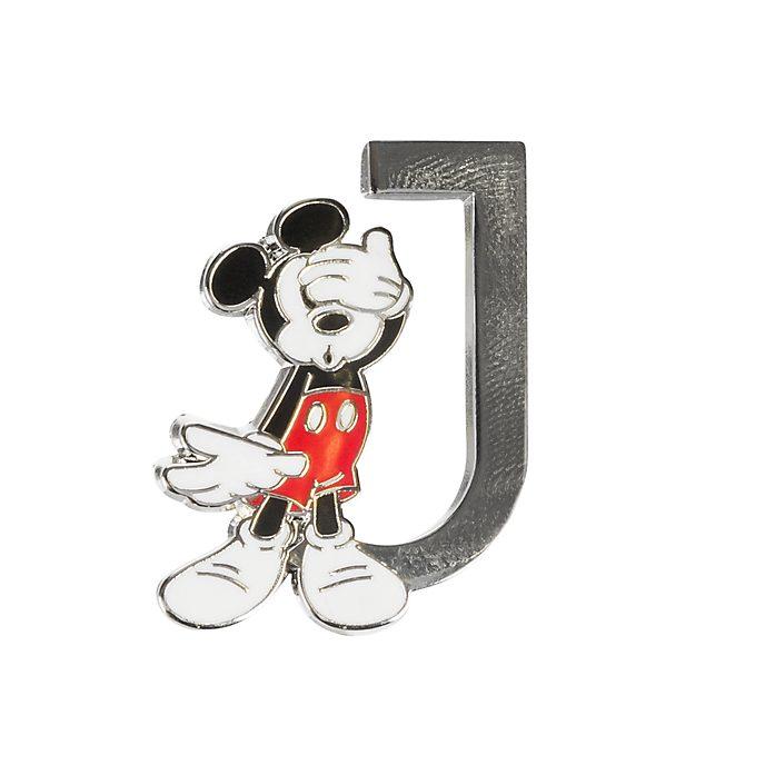 Disneyland Paris Mickey Mouse 'J' Letter Pin