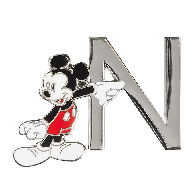 Disneyland Paris Mickey Mouse 'N' Letter Pin