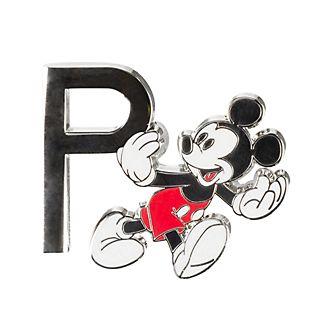 Disneyland Paris Mickey Mouse 'P' Letter Pin
