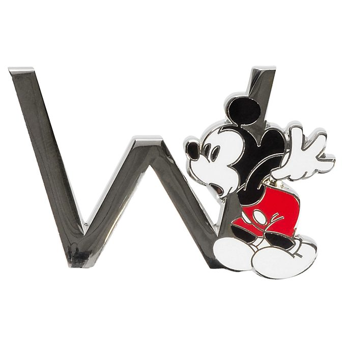 Disneyland Paris Mickey Mouse 'W' Letter Pin