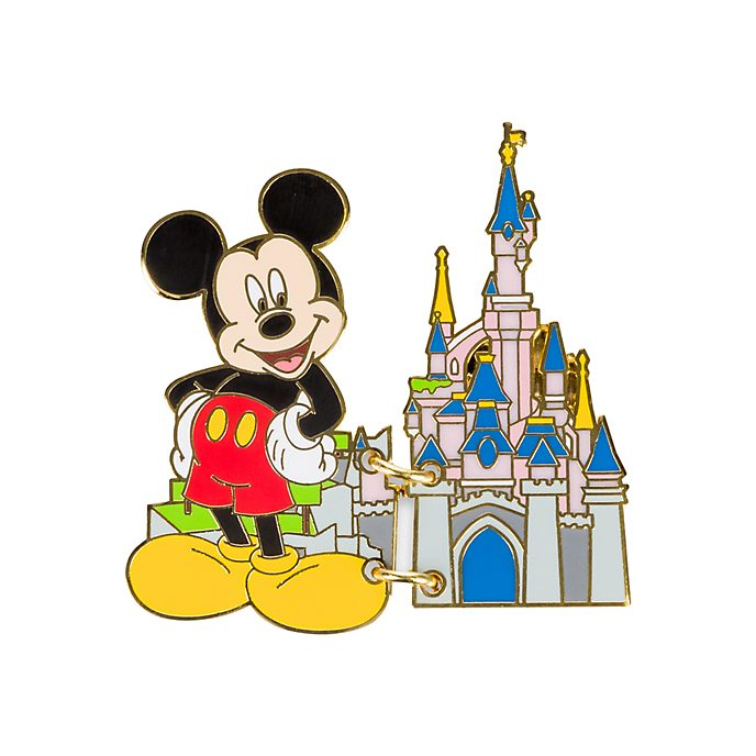 Disneyland Paris Mickey Mouse Best Day Ever Postcard Pin