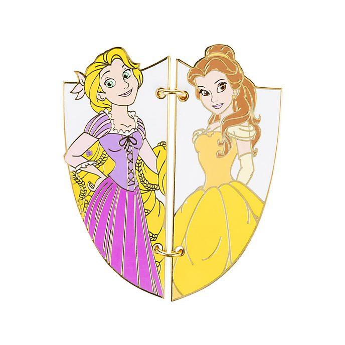 Disneyland Paris Pin's Carte postale Belle et Raiponce