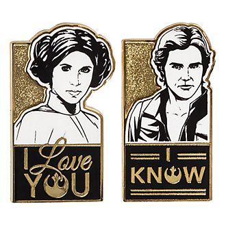 Disneyland Paris Star Wars Han and Leia Set of Pins