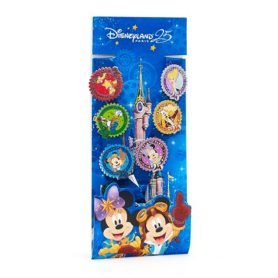 Disneyland Paris 25th Anniversary Deluxe Pin Trading Starter Kit