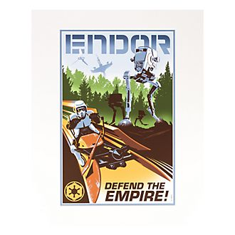 Disneyland Paris Star Wars Endor Poster