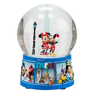 Disneyland Paris  Mickey and Minnie Mouse Souvenir Snowglobe
