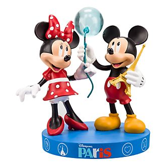 Disneyland Paris Mickey and Minnie Mouse Souvenir Figurine