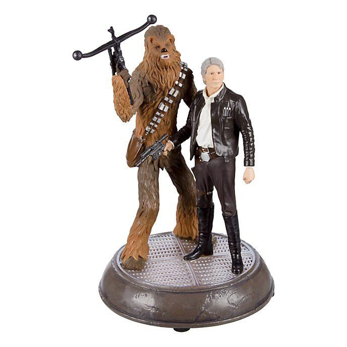 Figurine lumineuse Han et Chewie Star Wars Disneyland Paris