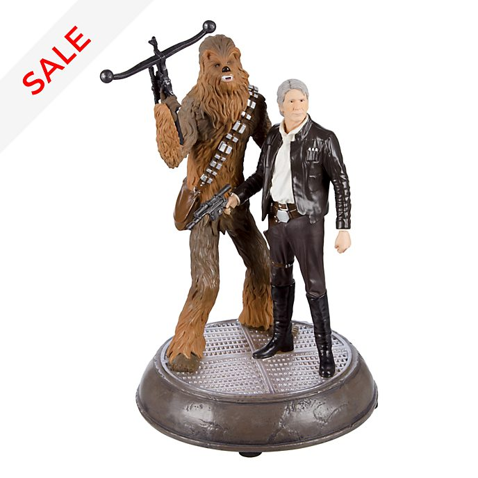 Disneyland Paris Star Wars Han & Chewie Light-Up Figurine