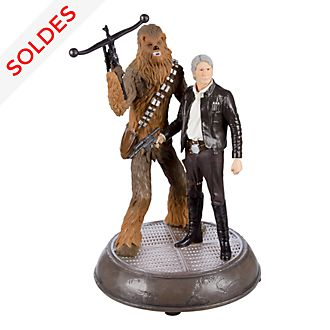 Figurine lumineuse Han et Chewie Star Wars Disneyland Paris