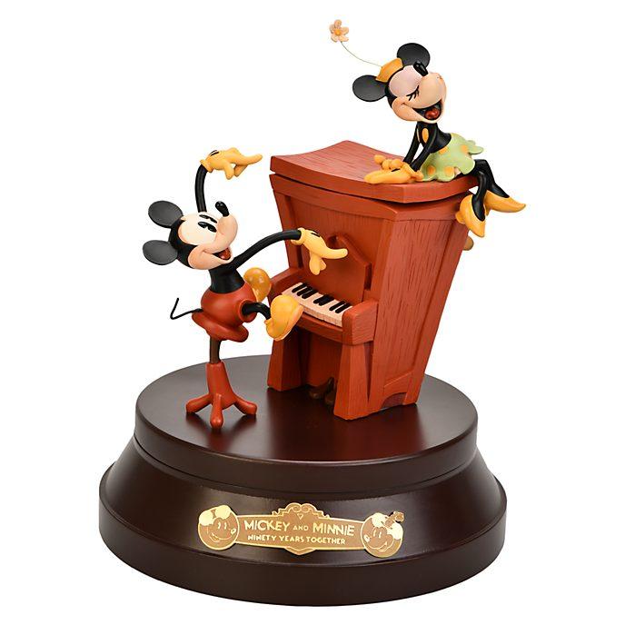 Disneyland Paris Mickey And Minnie Mouse 90th Anniversary Music Box