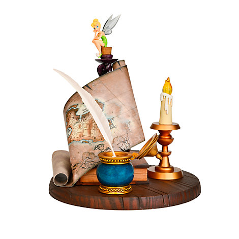 Disneyland Paris Tinker Bell And Map Figurine