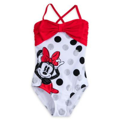 Minnie Rocks The Dots Swimming Costume For Kids