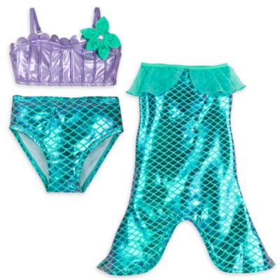The Little Mermaid 3 Piece Swim Set For Kids