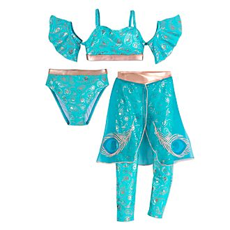 Disney Store Princess Jasmine 3 Piece Swimsuit For Kids