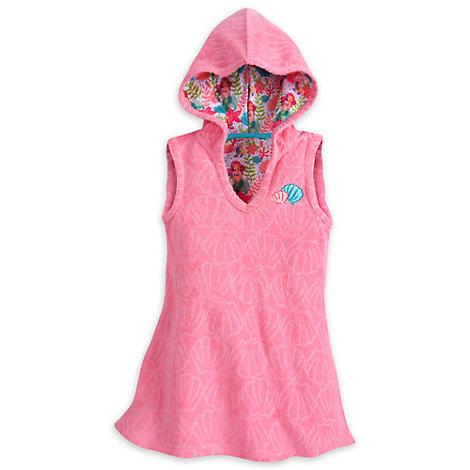 Poncho toalla sin mangas y con capucha infantil La Sirenita