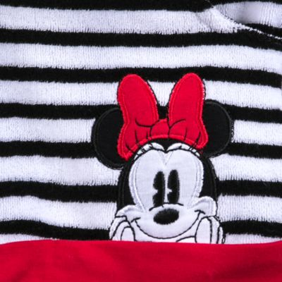 Poncho toalla a rayas infantil Minnie Rocks The Dots