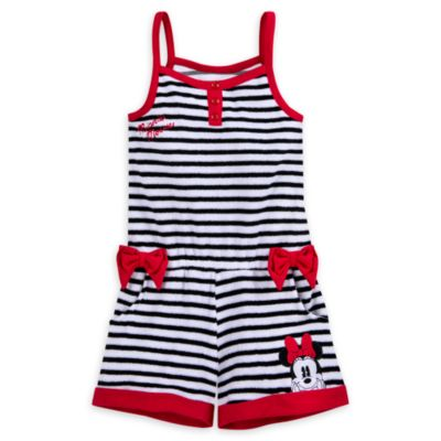 Minnie Rocks The Dots Striped Coverup For Kids