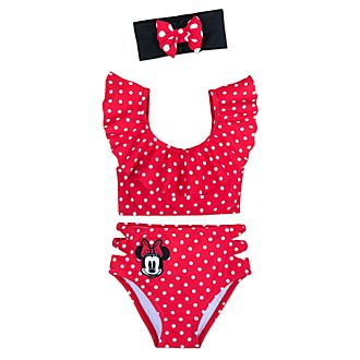 0d4325b92 Disney Store Minnie Rocks the Dots 3 Piece Swimsuit For Kids