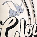 Felpa con cappuccio adulti Dumbo Never Say Never