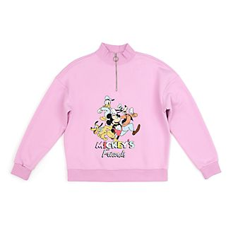 Disney Store Mickey and Friends Zip Neck Sweatshirt For Adults