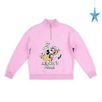 Disney Store - Micky und seine Freunde - Sweatshirt mit Reißverschluss am Hals für Erwachsene