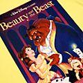 Camiseta para adultos La Bella y la Bestia tipo VHS, Disney Store