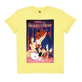 Disney Store Beauty and the Beast VHS T-Shirt For Adults