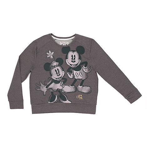 Mickey og Minnie Mouse sweatshirt til damer