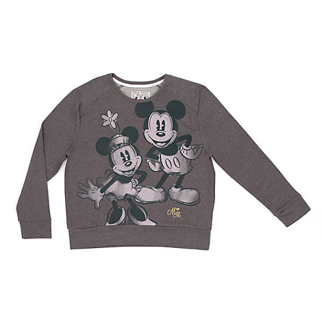 micky und minnie maus sweatshirt f r damen. Black Bedroom Furniture Sets. Home Design Ideas