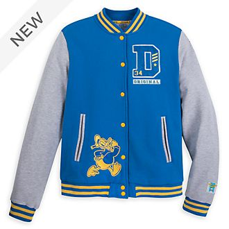 Disney Store Donald Duck 85th Anniversary Varsity Jacket For Adults