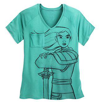 Camiseta El arte de Mulán para mujer, Disney Store