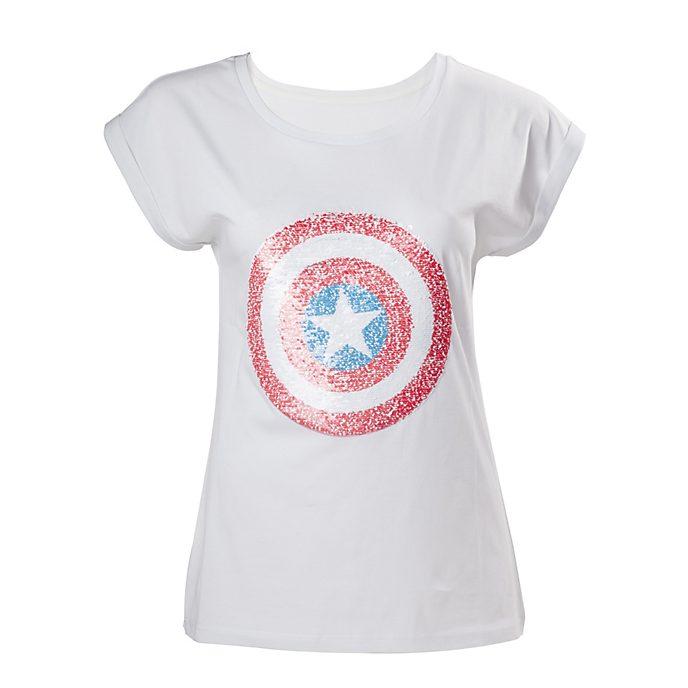 Captain America Ladies' Sequin T-Shirt