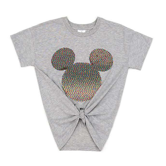 Disney Store Mickey Mouse Reversible Sequin Ladies' T-Shirt