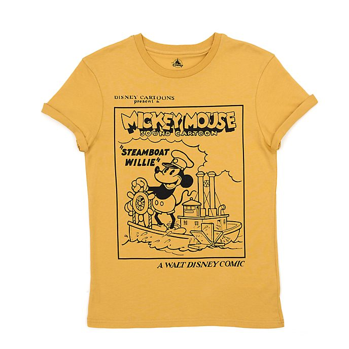 Disney Store Steamboat Willie T-Shirt For Adults