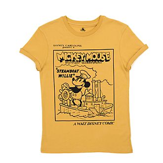 Disney Store - Steamboat Willie - T-Shirt für Erwachsene