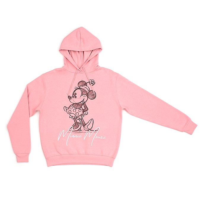 Disney Store Minnie Mouse Hooded Sweatshirt For Adults