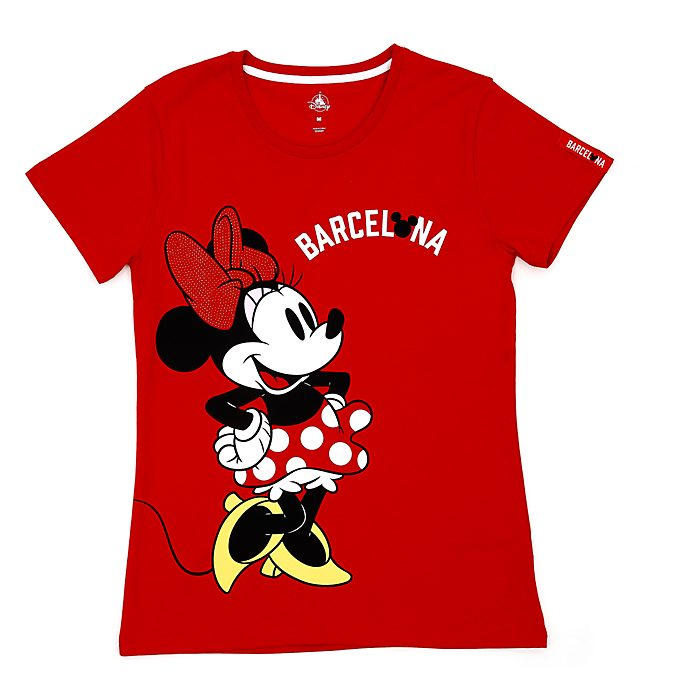 Camiseta Barcelona Minnie Mouse para mujer, Disney Store