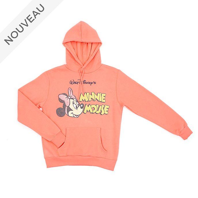 Disney Store Sweatshirt à capuche Minnie vintage pour adultes