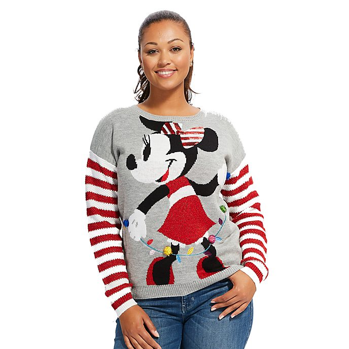 Disney Store Minnie Mouse Share the Magic Christmas Jumper For Adults