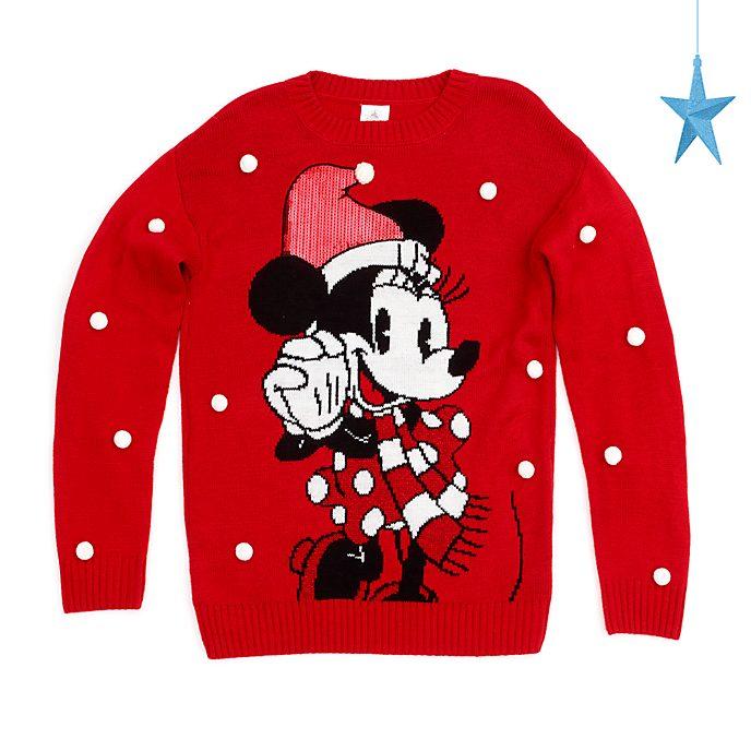 Disney Store - Holiday Cheer - Minnie Maus - Weihnachtspullover für Erwachsene