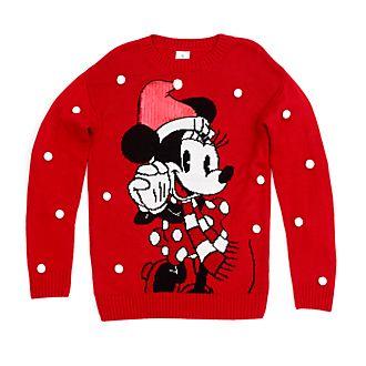 Jersey navideño Minnie Mouse para adultos, Holiday Cheer, Disney Store